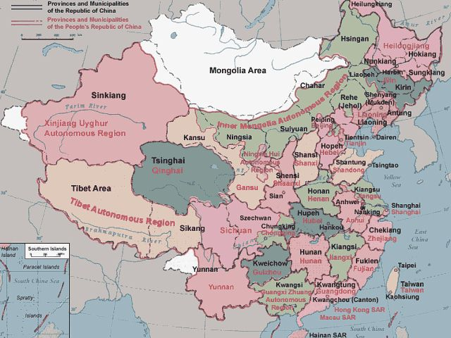 map of china provinces. Republic of China. Map of